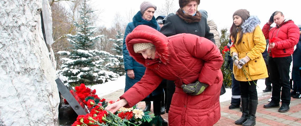 В п. Зендиково прошел митинг, посвященный 76-летию контрнаступления советских войск