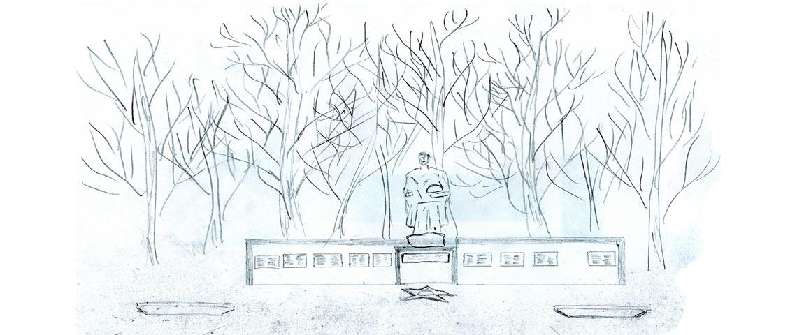 Пионерская дружина и её серьёзный подход к работе с памятниками
