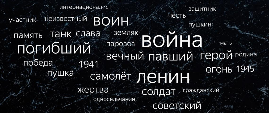 60% памятников в России посвящены войне