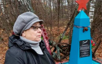История заброшенного памятника с красной звездой