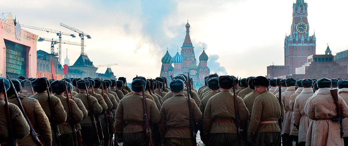 Марш по Красной площади в годовщину Битвы за Москву